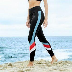Triple Color Block Workout Leggings